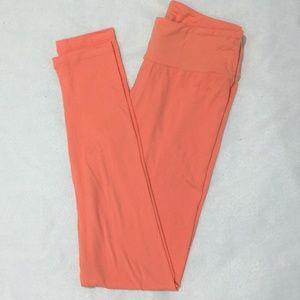 LuLaRoe peach leggings